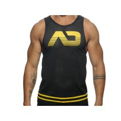 ADDICTED Fetish AD Mesh Tank Top - Yellow