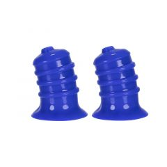 Hunkyjunk Elong Nipple Suckers - Cobalt Blue