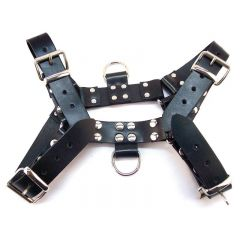 Leather O.T H-Front Harness - Black - Large