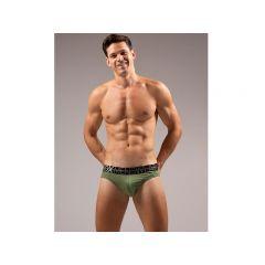 Box Menswear Max Wyatt Defined Crotch Brief - Green