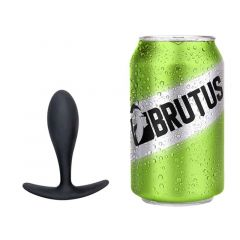 BRUTUS All Day Long Silicone Butt Plug Large - Black