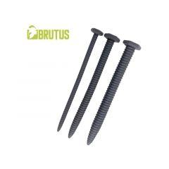 BRUTUS Screw You 3 Piece Ribbed Silicone Sounds Set - Black