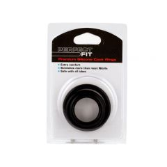 Perfect Fit Premium Silicone 3 Cock Rings - Mixed Pack M-L-XL