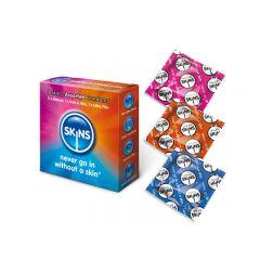 Skins: Assorted Condoms - 4 Pack