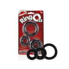 Screaming O Ringo 3 Piece Cock Ring Set - Black