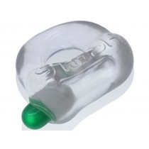 OXBALLS Stash Cock Ring with Capsule Insert - Clear