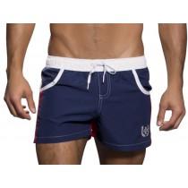Andrew Christian Navigator Swim Shorts - Navy Red