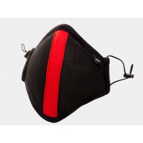 Barcode Ensign Milo Face Mask - Black Red