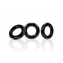 OXBALLS Willy Rings 3 Pack Cock Ring Set - Black
