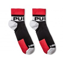 Pump! All-Sport Falcon Socks 2-Pack - Black Red White