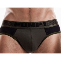 Pump! Ribbed Brief - Military Green
