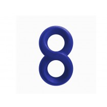 Renegade Silicone Infinity Cock Ring - Blue