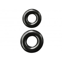 Renegade Super Stretchable Double Stack Cock Ring - Black