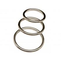Revenge Metal Cock Ring 3 Ring Pack