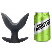 BRUTUS Open Wide Silicone Twin Tip Butt Plug XLarge - Black