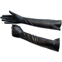 Elbow Length Rubber Gloves - Size Medium