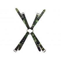 Fabric Camo Chest Harness - Camo Green