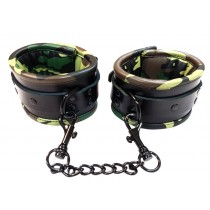 Leather Padded Ankle Cuffs - Camo