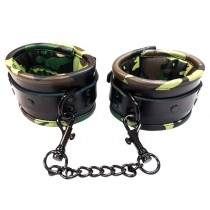 Leather Padded Wrist Cuffs - Camo