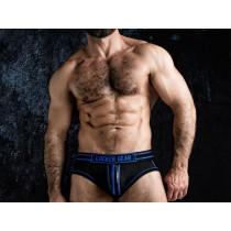 LOCKER GEAR Josh Bottomless Zipper Brief - Blue