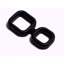 Sport Fucker Silicone Muscle 2 Way Universal Cockring  - Black