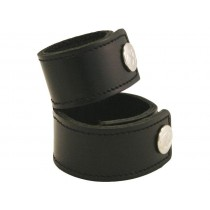 Leather Cock Ring/Strap Plain Double