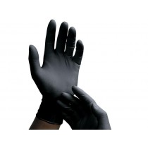 Latex Fisting Gloves Black 10 Pairs