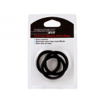Perfect Fit Premium Silicone 3 Cock Rings - Large